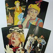 Винтаж ручной работы. Ярмарка Мастеров - ручная работа Винтажные календарики. Цирк. 1980-е. Handmade.