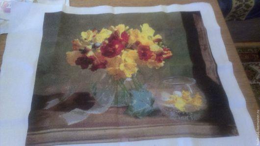 Картины цветов ручной работы. Ярмарка Мастеров - ручная работа. Купить желтые цветы. Handmade. Желто-зеленый, цветы