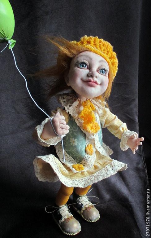 Куклы и игрушки ручной работы. Ярмарка Мастеров - ручная работа. Купить интерьерная кукла ЭЛЛИ. Handmade. Желтый, авторская кукла