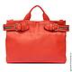 Сумки и аксессуары ручной работы. Ярмарка Мастеров - ручная работа. Купить Двусторонняя красная сумка-портфель унисекс. Handmade.