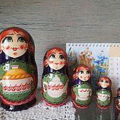 Русский стиль ручной работы. Ярмарка Мастеров - ручная работа матрешка Хлеб-соль. Handmade.