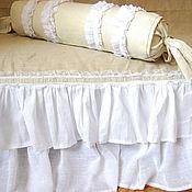 Для дома и интерьера ручной работы. Ярмарка Мастеров - ручная работа Валик и покрывало в рустикальном стиле. Handmade.