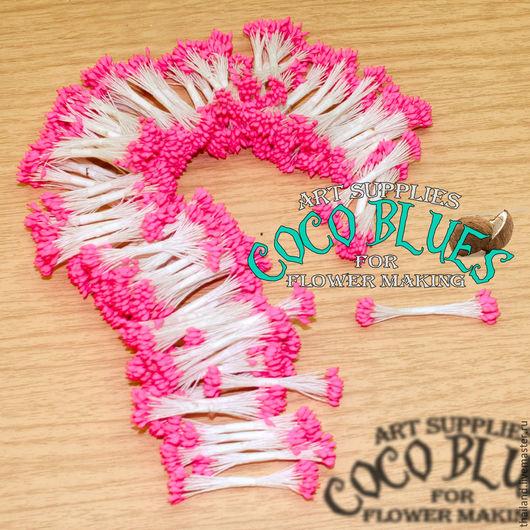 Тайские Розовые каплевидные тычинки очень хорошего качества. Двусторонние. Длина нити около 7 см.   `Кокосов Блюз` Таиланд  (c) Coco Blues (Thailand) Co. Ltd