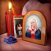 Картины и панно handmade. Livemaster - original item The Tenderness Of The Blessed Virgin Mary. Icon in academic writing style. Handmade.