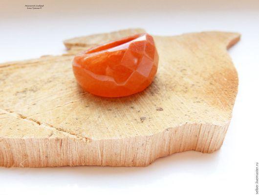 """Кольца ручной работы. Ярмарка Мастеров - ручная работа. Купить Кольцо из авантюрина """"Оранжевое"""". Handmade. Рыжий, каменное кольцо"""