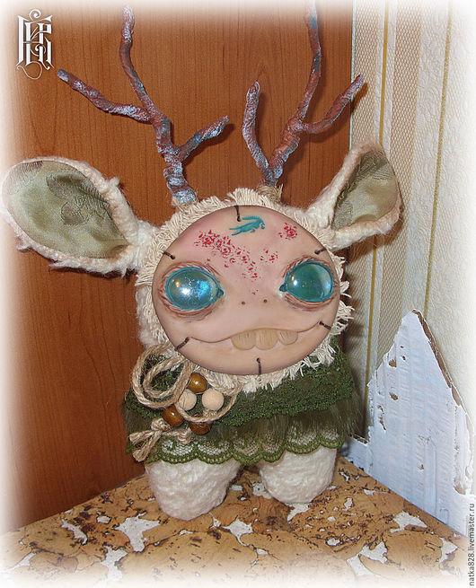 Сказочные персонажи ручной работы. Ярмарка Мастеров - ручная работа. Купить Интерьерная игрушка Зверь 24 см. Handmade. Зеленый