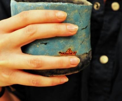 Кружки и чашки ручной работы. Ярмарка Мастеров - ручная работа. Купить стакан морской воды. Handmade. Море, чайки, синий