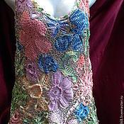 Одежда ручной работы. Ярмарка Мастеров - ручная работа майка цветы. Handmade.