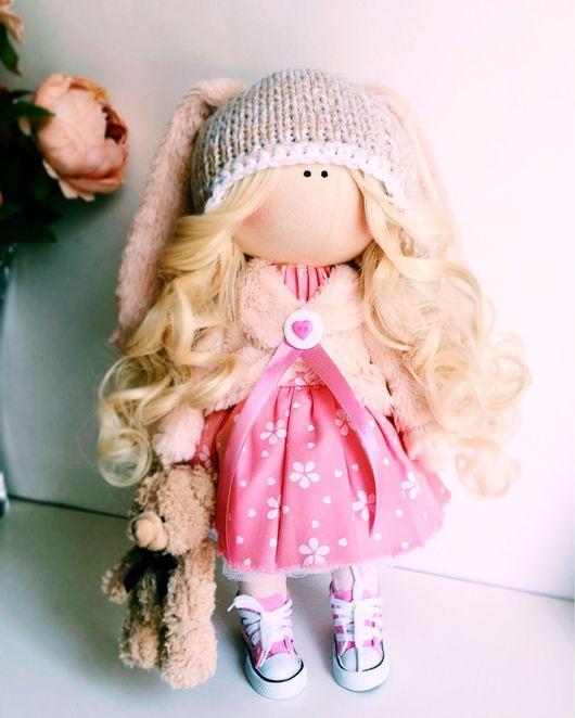 Коллекционные куклы ручной работы. Ярмарка Мастеров - ручная работа. Купить Заюшка. Handmade. Подарок, подарок на новый год, хлопок