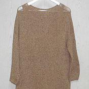 Одежда ручной работы. Ярмарка Мастеров - ручная работа Шелковое вязаное платье Монвизо, шелк 75%, хлопок 25% Италия. Handmade.