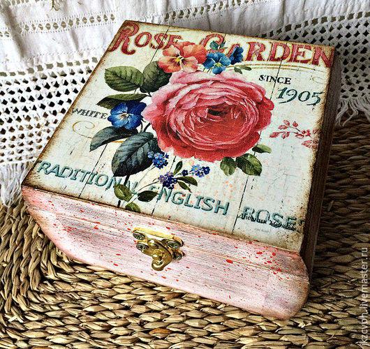 Шкатулки ручной работы. Ярмарка Мастеров - ручная работа. Купить Шкатулка Английская роза. Handmade. Комбинированный, подарок, декупажные материалы