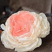 Украшения handmade. Livemaster - original item Tropical brooch, hair clip, fabric flower