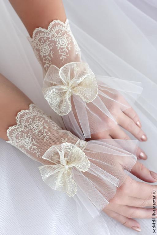 перчатки невесте кружевные перчатки нарядные перчатки вечерние перчатки свадебные перчатки