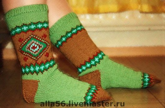 Носки, Чулки ручной работы. Ярмарка Мастеров - ручная работа. Купить Носочки с вышивкой. Handmade. Носки женские, вязаные носки