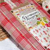 """Книги для рецептов ручной работы. Ярмарка Мастеров - ручная работа Кулинарная книга """"Вишенка с лимоном"""". Handmade."""