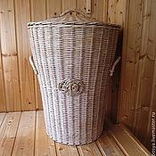 Для дома и интерьера ручной работы. Ярмарка Мастеров - ручная работа Корзина для белья плетеная. Handmade.