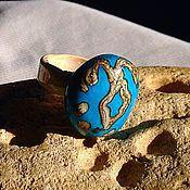 Украшения handmade. Livemaster - original item Ring lampwork beads in ethnic style . Guardian angel. Handmade.