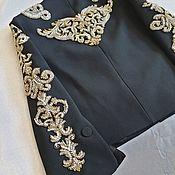 Материалы для творчества handmade. Livemaster - original item Embroidery on the jacket. Handmade.