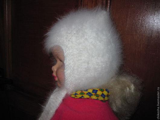 Шапки ручной работы. Ярмарка Мастеров - ручная работа. Купить Шапочка из кроличьего пуха №03. Handmade. Белый, кроличий пух