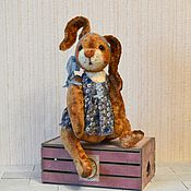 Куклы и игрушки ручной работы. Ярмарка Мастеров - ручная работа Тедди Кролик Кнопка игрушка. Handmade.