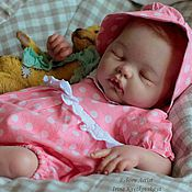 Куклы и игрушки ручной работы. Ярмарка Мастеров - ручная работа Спящая малышка Тося !Продана !. Handmade.