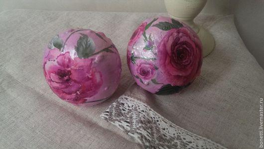 Интерьерные слова ручной работы. Ярмарка Мастеров - ручная работа. Купить тыква с стиле Шебби шик. Handmade. Розовый, роспись