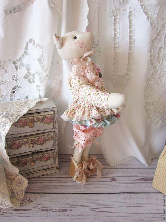Куклы Тильды ручной работы. Ярмарка Мастеров - ручная работа. Купить Кошечка текстильная интерьерная в стиле Тильда Шебби Малышка. Handmade.