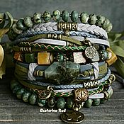 Украшения handmade. Livemaster - original item Multi-layered bracelet in the BOHO style