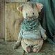 Мишки Тедди ручной работы. Бродяжка. Анна Ананьева - Волшебный магазин. Ярмарка Мастеров. Бежевый, авторская игрушка, металлический гранулят
