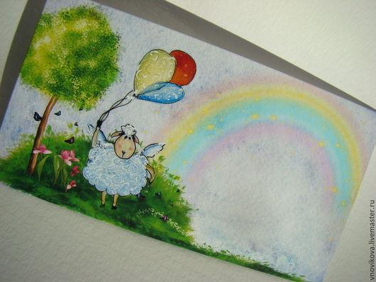 конверт может быть использован в подарок на день рождения ребенку или на новый год.