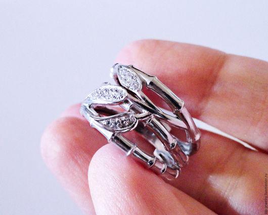 Кольца ручной работы. Ярмарка Мастеров - ручная работа. Купить Серебряное кольцо в стиле Carrera бамбук. Handmade. Серебряный