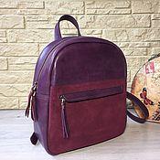 Рюкзаки ручной работы. Ярмарка Мастеров - ручная работа Рюкзак бордовый (натуральная кожа, замша). Handmade.