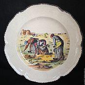 Винтажные предметы интерьера ручной работы. Ярмарка Мастеров - ручная работа Тарелка панно блюдо Франция 54. Handmade.
