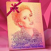 Фото ручной работы. Ярмарка Мастеров - ручная работа Портрет из слов. Подарок для мамы.. Handmade.