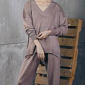 Одежда handmade. Livemaster - original item Women`s knitted suit Cold Beige. Handmade.