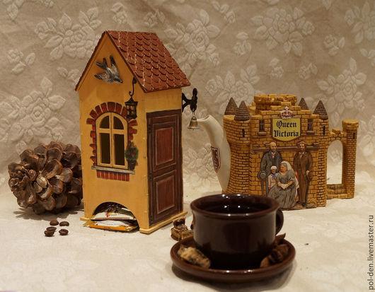 """Кухня ручной работы. Ярмарка Мастеров - ручная работа. Купить Чайный домик """"Старая Европа"""". Handmade. Коричневый, окошко, замок"""