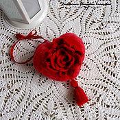 Подарки на 14 февраля ручной работы. Ярмарка Мастеров - ручная работа Сердечко с розой. Handmade.