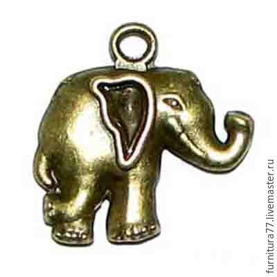 Для украшений ручной работы. Ярмарка Мастеров - ручная работа. Купить Подвеска Слон - латунь. Handmade. Подвеска латунная, слон