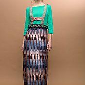 Dresses handmade. Livemaster - original item Floor-length dress with author`s print. Handmade.