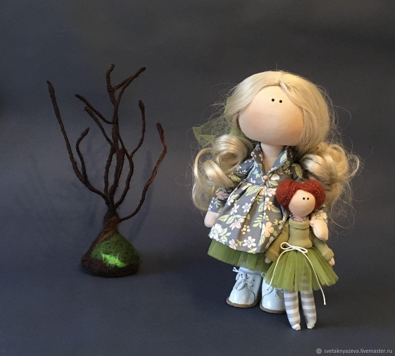 Интерьерная куколка «Весна», Тыквоголовка, Москва,  Фото №1