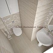 Дизайн и реклама ручной работы. Ярмарка Мастеров - ручная работа Дизайн ванной комнаты. Handmade.
