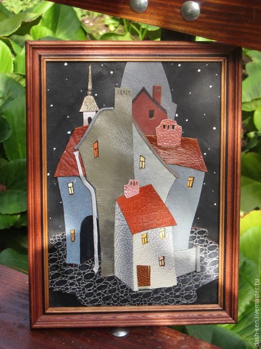 Город ручной работы. Ярмарка Мастеров - ручная работа. Купить Старый город. Ночь. (2). Handmade. Домик, Прага