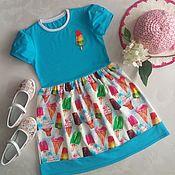 Работы для детей, ручной работы. Ярмарка Мастеров - ручная работа Платье Мороженное. Handmade.