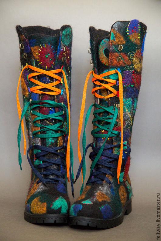 """Обувь ручной работы. Ярмарка Мастеров - ручная работа. Купить Сапоги-ботинки"""" Личность"""" повтор. Handmade. Комбинированный, ботинки зимние"""