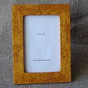 Сувениры и подарки manualidades. Livemaster - hecho a mano Marco de fotos de abedul de carelia 10h15h. Handmade.