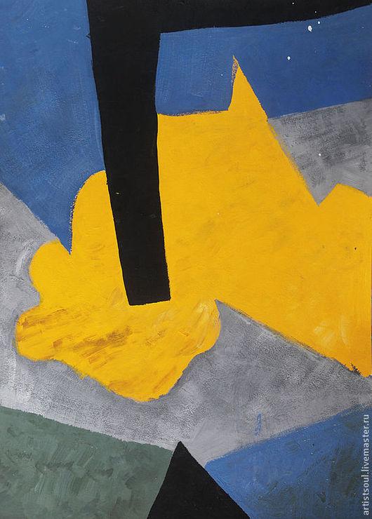 Абстракция ручной работы. Ярмарка Мастеров - ручная работа. Купить Абстрактная живопись. Transformation.. Handmade. Желтый, черный, абстракция