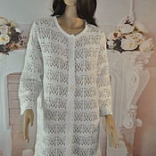Одежда handmade. Livemaster - original item Openwork cardigan, cotton, ,52-54p.. Handmade.