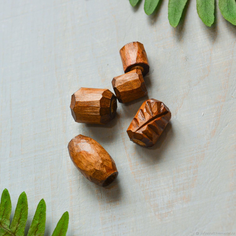 Комплект бусин для дред из дерева ручной работы, Комплекты украшений, Новосибирск,  Фото №1