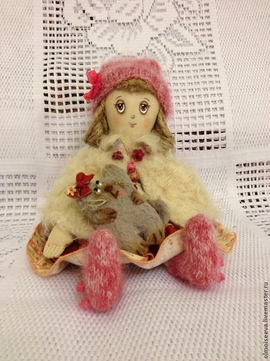 """Ароматизированные куклы ручной работы. Ярмарка Мастеров - ручная работа. Купить Варенька ( куколка из серии"""" Детство""""). Handmade. Бордовый"""