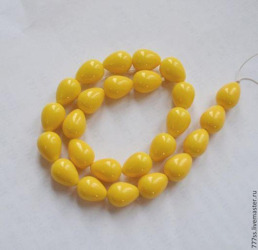 Для украшений ручной работы. Ярмарка Мастеров - ручная работа. Купить Жемчуг майорка (капли желтые). Handmade. Лимонный